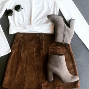 Zara Faux Suede Ankle Boots